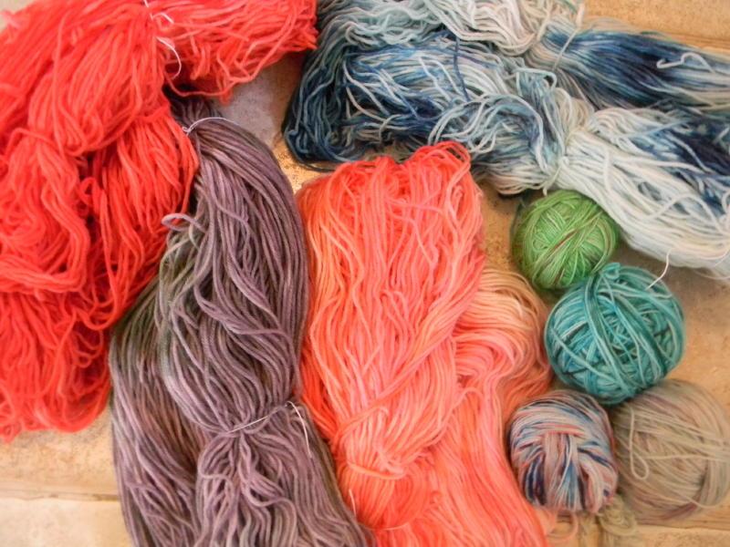 Solar dyed sock yarn summer 2014_1_1