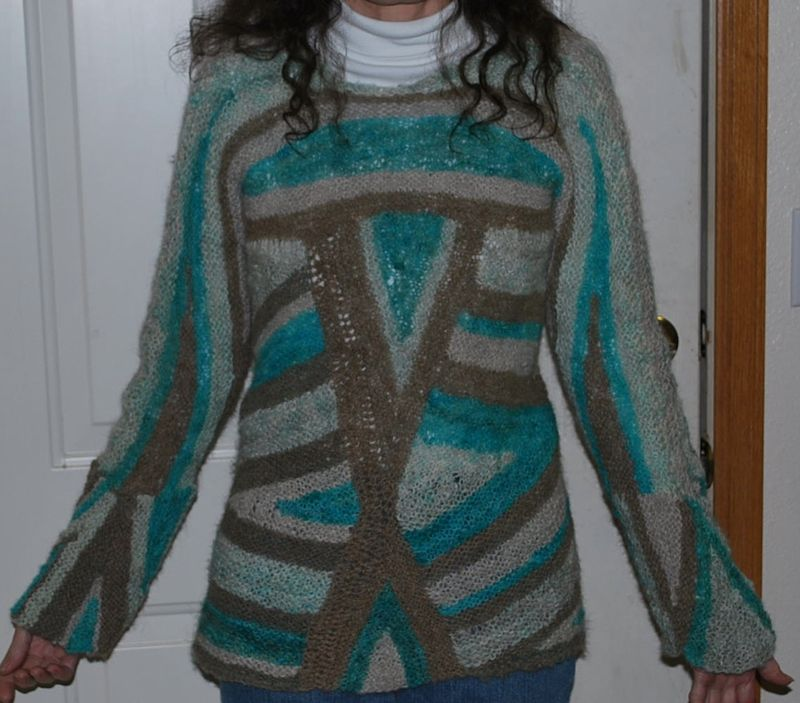 Triangle sweater front